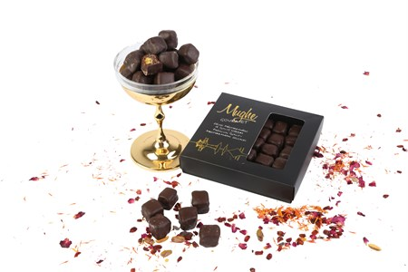 Luxury Chocolate Coated Turkish Delights with Pistachio Gift Box