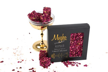 Luxury Rose Petal Coated Turkish Delight with Pistachio
